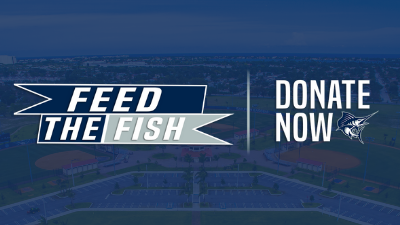 Feed the fish donate graphic for athletics