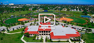 aerial view of rinker campus