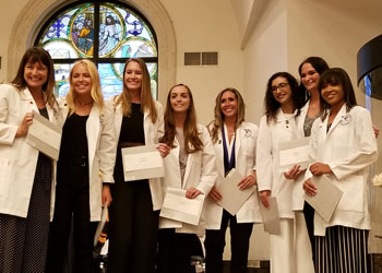 School of Nursing graduates received their pins and awards at a ceremony at the DeSantis Family Chapel on May 4, 2019.
