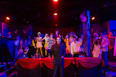 "Middle and high school students who participated in SummerStage, four weeks of theatre instruction, put on a production of ""The Addams Family"" at the Fern Stree Theatre in June."