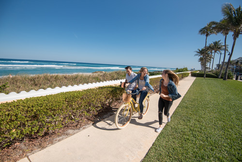 biking and walking