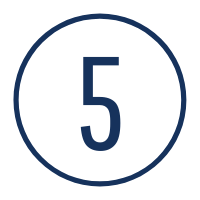 Graphic of the number five