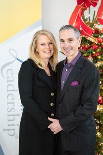 Christine and Scott Auker pose for a photo at Lifework Leadership right after they got engaged.