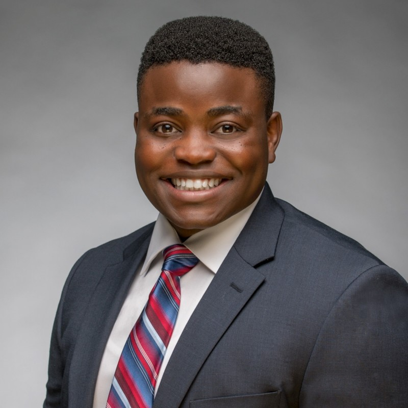 Lucson Pierre, a senior computer science major who came to the U.S. from Haiti, was inspired by Cognosante founder and CEO Michele Kang's story of starting the business from her garage.