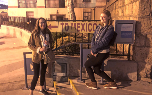 Maria Landron and Madison Stoneburner, juniors studying public relations, made a trip to Nogales, Arizona, across the border from a Mexican town of the same name, in December. It was a fact-finding trip to gather stories from cattle ranchers and law enforcement officials who are affected by illegal immigration.