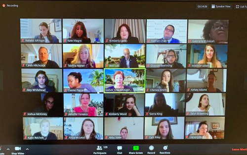 Student Development coordinated a virtual awards banquet to honor students who are dedicated servant leaders.