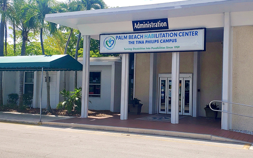 Students visited the Palm Beach Habilitation Center, observed operations and interviewed staff for their research.