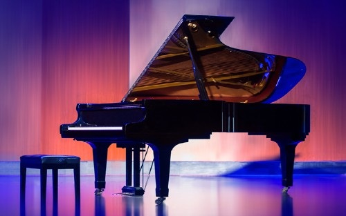 Piano on stage for use with International Piano Festival 2020
