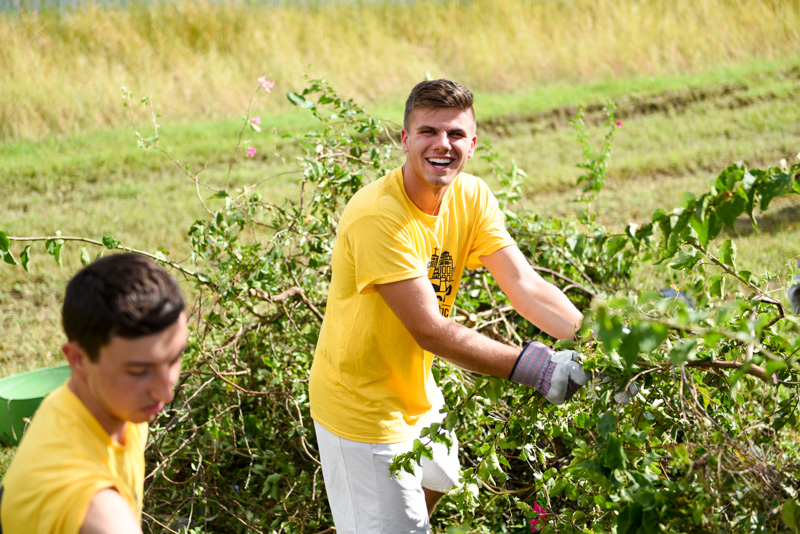 PBA student volunteers at a Workship event