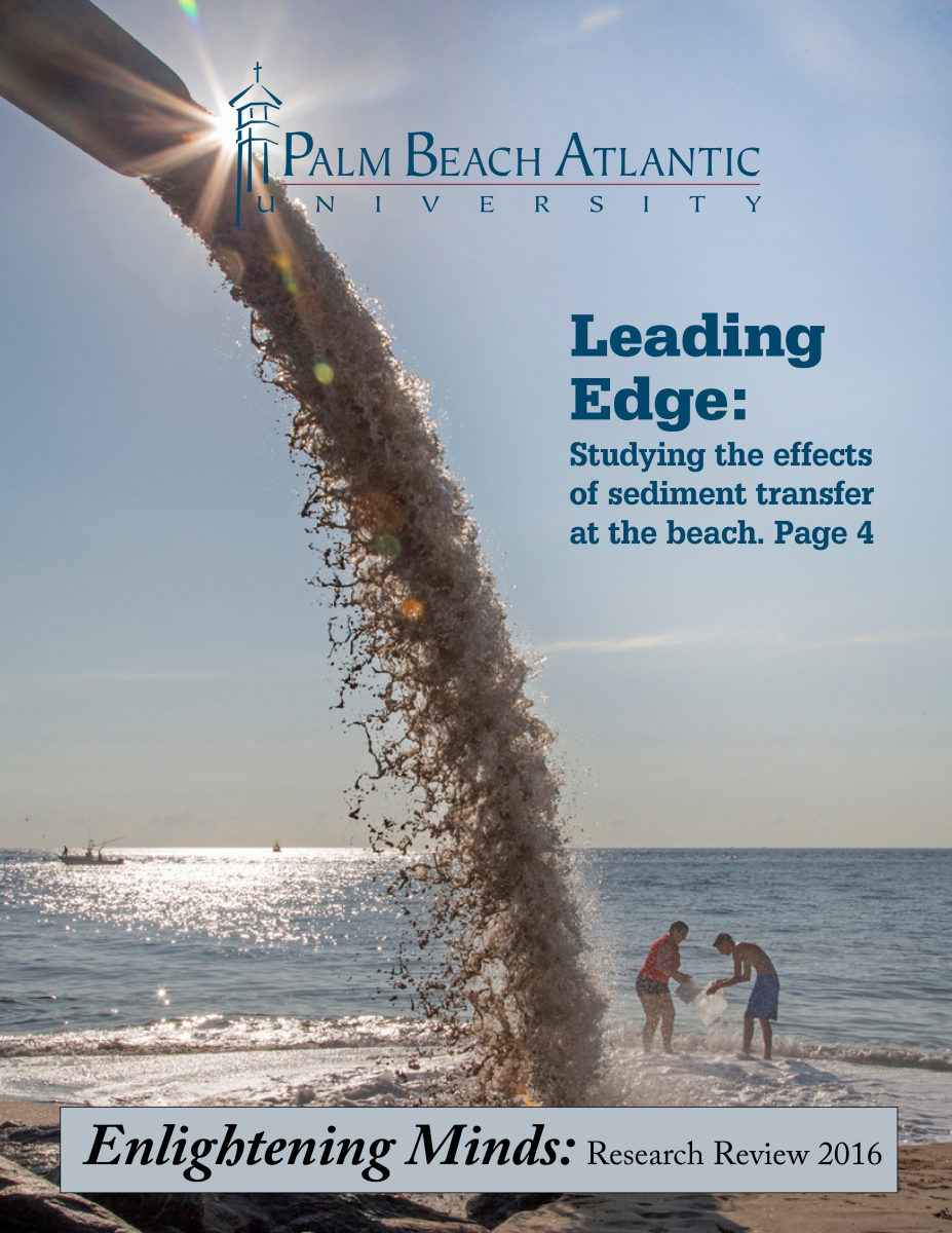 The 2017 cover Palm Beach Atlantic University's publication, Enlightening Minds, related to our annual Interdisciplinary Research Conference.