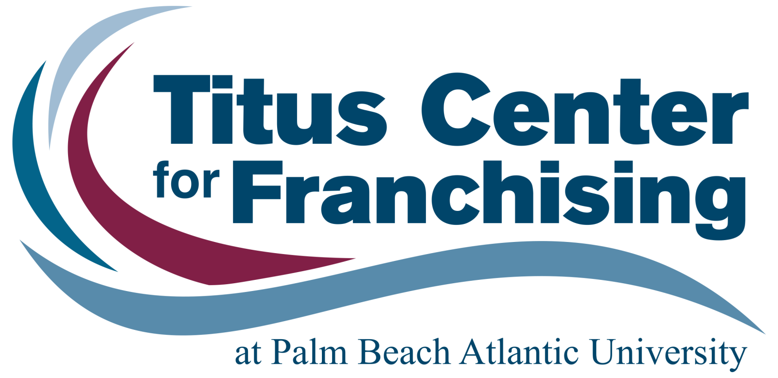 Logo for the Titus Franchising Center at Palm Beach Atlantic University.