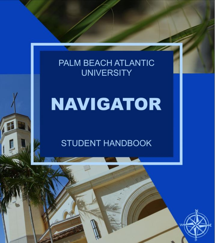 The Navigator is PBAU's student handbook, containing rules of conduct