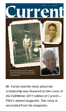 The late Joseph Farish, Jr. was a prominent West Palm Beach attorney and businessman. Read more on Farish in our alumni magazine, Current.