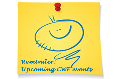 Learn about upcoming CWE events here.