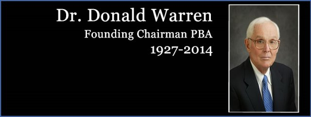 Read about Dr. Donald Warren's legacy at PBA.